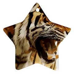 Royal Tiger National Park Star Ornament (Two Sides)