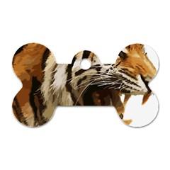 Royal Tiger National Park Dog Tag Bone (one Side)