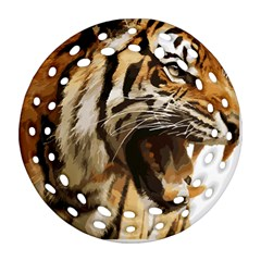 Royal Tiger National Park Round Filigree Ornament (two Sides)