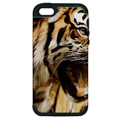 Royal Tiger National Park Apple Iphone 5 Hardshell Case (pc+silicone)
