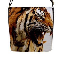 Royal Tiger National Park Flap Messenger Bag (l)