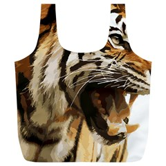 Royal Tiger National Park Full Print Recycle Bags (l)