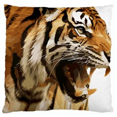 Royal Tiger National Park Large Flano Cushion Case (two Sides)