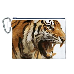 Royal Tiger National Park Canvas Cosmetic Bag (L)