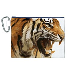 Royal Tiger National Park Canvas Cosmetic Bag (xl)