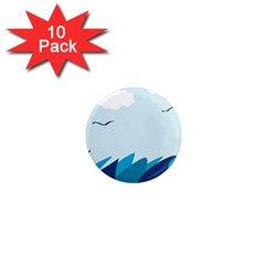 Sea 1  Mini Magnet (10 Pack)