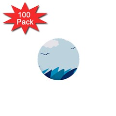 Sea 1  Mini Buttons (100 Pack)