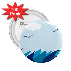 Sea 2 25  Buttons (100 Pack)