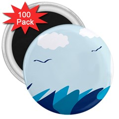 Sea 3  Magnets (100 Pack)