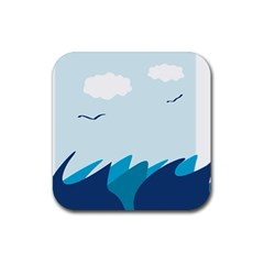 Sea Rubber Square Coaster (4 Pack)