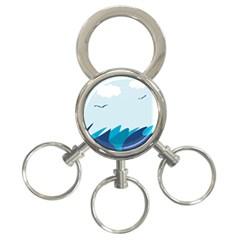 Sea 3 Ring Key Chains