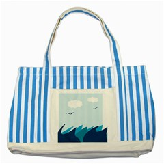 Sea Striped Blue Tote Bag