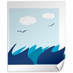 Sea Canvas 16  X 20