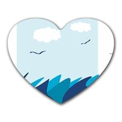 Sea Heart Mousepads