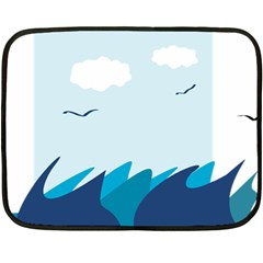 Sea Double Sided Fleece Blanket (mini)