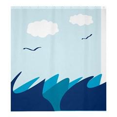 Sea Shower Curtain 66  X 72  (large)