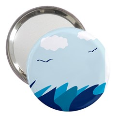 Sea 3  Handbag Mirrors