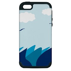 Sea Apple Iphone 5 Hardshell Case (pc+silicone)