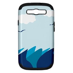 Sea Samsung Galaxy S III Hardshell Case (PC+Silicone)