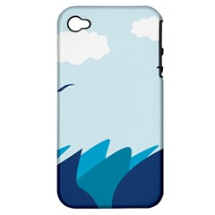 Sea Apple Iphone 4/4s Hardshell Case (pc+silicone)