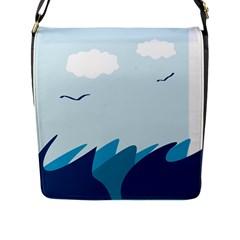 Sea Flap Messenger Bag (l)