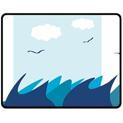 Sea Double Sided Fleece Blanket (medium)