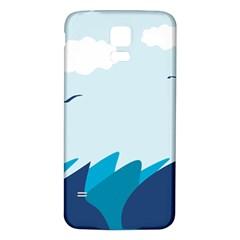 Sea Samsung Galaxy S5 Back Case (white)
