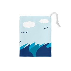 Sea Drawstring Pouches (small)