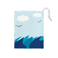 Sea Drawstring Pouches (medium)