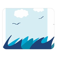 Sea Double Sided Flano Blanket (large)