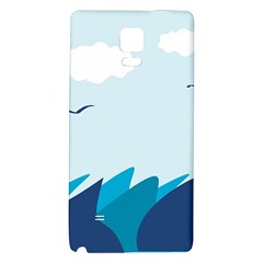 Sea Galaxy Note 4 Back Case