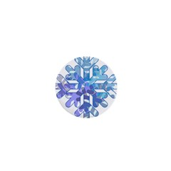 Snowflake Blue Snow Snowfall 1  Mini Buttons