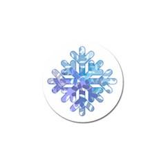 Snowflake Blue Snow Snowfall Golf Ball Marker (10 Pack)