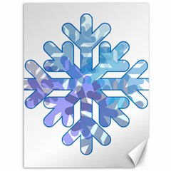 Snowflake Blue Snow Snowfall Canvas 36  X 48