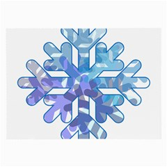 Snowflake Blue Snow Snowfall Large Glasses Cloth (2 Side)
