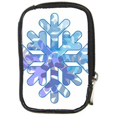 Snowflake Blue Snow Snowfall Compact Camera Cases