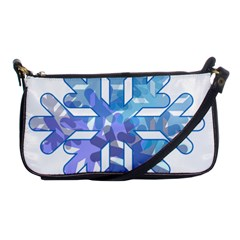 Snowflake Blue Snow Snowfall Shoulder Clutch Bags