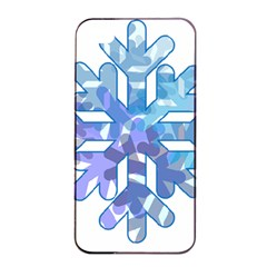 Snowflake Blue Snow Snowfall Apple Iphone 4/4s Seamless Case (black)