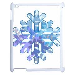 Snowflake Blue Snow Snowfall Apple Ipad 2 Case (white)