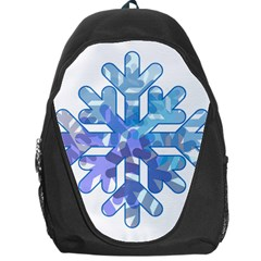 Snowflake Blue Snow Snowfall Backpack Bag