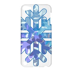 Snowflake Blue Snow Snowfall Apple Ipod Touch 5 Hardshell Case