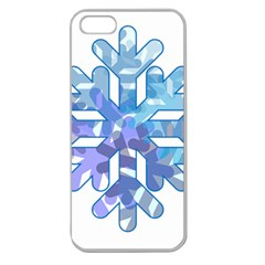 Snowflake Blue Snow Snowfall Apple Seamless Iphone 5 Case (clear)