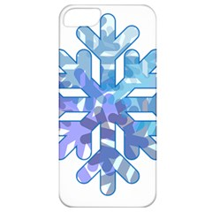 Snowflake Blue Snow Snowfall Apple Iphone 5 Classic Hardshell Case