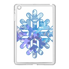 Snowflake Blue Snow Snowfall Apple Ipad Mini Case (white)