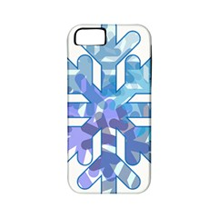 Snowflake Blue Snow Snowfall Apple Iphone 5 Classic Hardshell Case (pc+silicone)