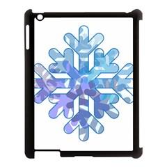 Snowflake Blue Snow Snowfall Apple Ipad 3/4 Case (black)