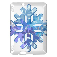 Snowflake Blue Snow Snowfall Kindle Fire Hdx Hardshell Case