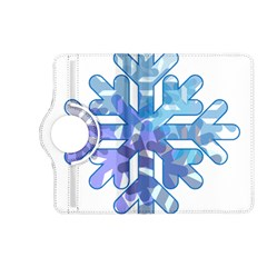 Snowflake Blue Snow Snowfall Kindle Fire Hd (2013) Flip 360 Case