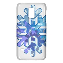 Snowflake Blue Snow Snowfall Galaxy S5 Mini