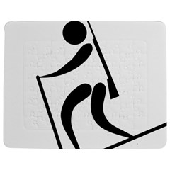Biathlon Pictogram Jigsaw Puzzle Photo Stand (Rectangular)
